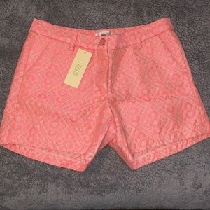 NEW pink patterned shorts.